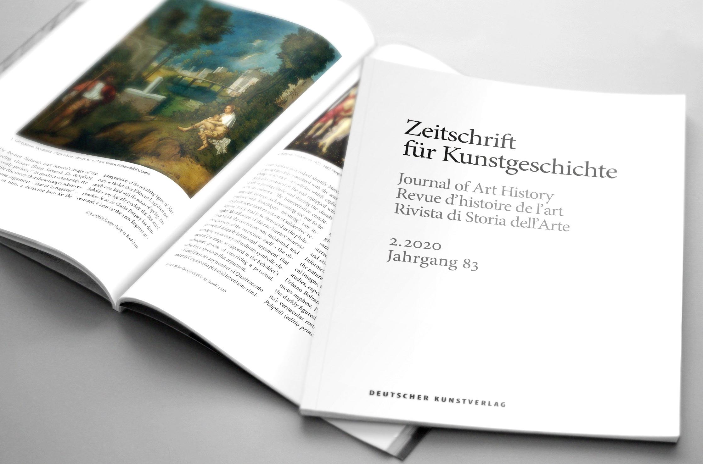 Die Zeitschrift für Kunstgeschichte wird neu organisiert
