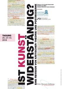 Tagung: Ist Kunst widerständig? — Zentralinstitut für Kunstgeschichte