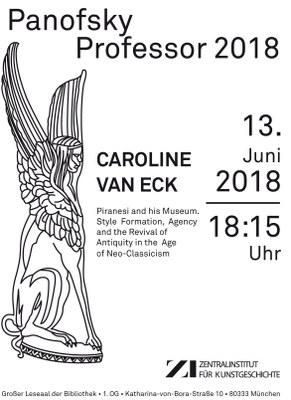 Panofsky-Professur_2018_Caroline_van_eck