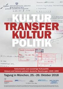 Plakat_Kulturtransfer und auswärtige Kulturpolitik. Akteure und Faktoren polnisch-deutscher Beziehungen 1949–1990