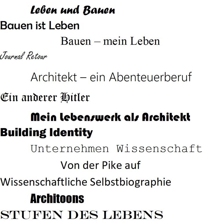 Vortrag // Tobias Zervosen: Architektenautobiographien. Literarische Selbstdarstellung und Selbstreflexion eines Berufsstandes im 20. Jahrhundert