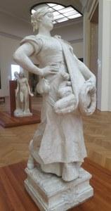 Jules Coutan, Die Brotausträgerin, Gipsmodell, 1881, Paris, Musée du Petit Palais (Foto: Hans Körner)