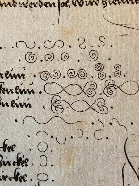 """Kolloquium """"Schrift und Linie um 1500"""" // Johann Neudörffer, Ein gute Ordnung (detail), 1543 (Houghton Library, Harvard University, TypW 520.43.603"""