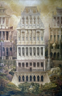 Joseph Gandy, Comparative Characteristics of Thirteen Selected Styles of Architecture, 1836, 120 x 83,4 cm. London, Sir John Soane's Museum