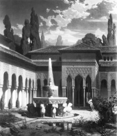 Eduard Gerhardt: Der Löwenhof in der Alhambra, 1866, Schack-Galerie, München