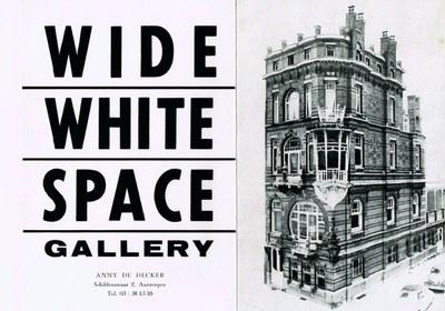 Einladungskarte Wide White Space Gallery für Accrochage 16.10.-14.11.1968