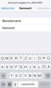 WLAN iOS Abb. 2