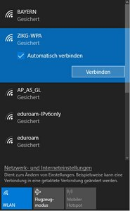 WLAN Windows 10 Abb. 1