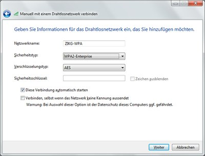 WLAN Windows 7 Abb. 1