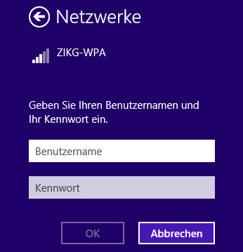 WLAN Windows 8.1 - Abb. 5