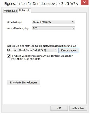 WLAN Windows 8.1 - Abb. 2