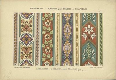 Léon Durand, Ornements au pochoir pour églises et chapelles, ca 1890