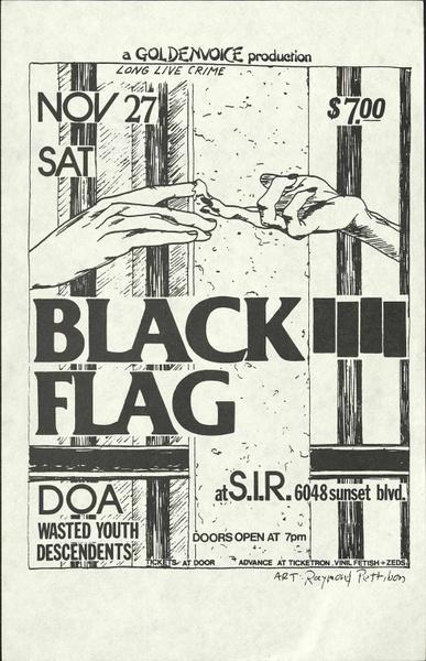 Raymond Pettibon: Black Flag (2) D2-Pet 2756/6 Rarissima