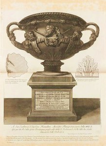 ›Warwick Vase‹ aus: Giovanni Battista Piranesi, Vasi, candelabri, cippi…, 1778–80, Bd. I,  Taf. 2, Kupferstich, 550 x 800 mm © Metropolitan Museum of Art (USA)