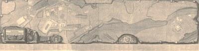 Francesco Piranesi, Pianta delle Fabriche esistenti nella Villa Adriana 1781, Taf. I-VI, 812 × 3105 mm © Wikimedia Commons