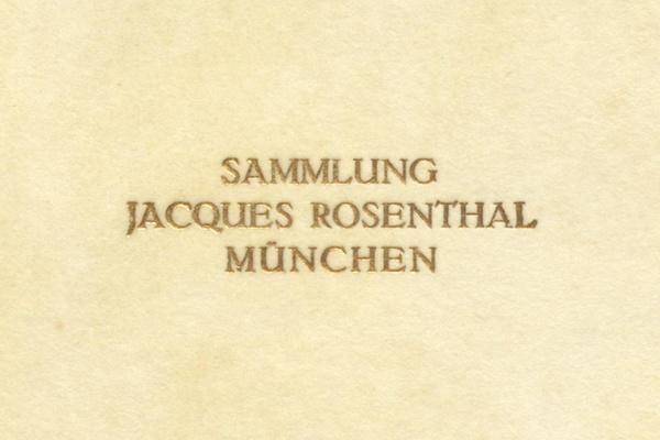 Rekonstruktion der privaten Kunstsammlung von Jacques, Emma und Erwin Rosenthal