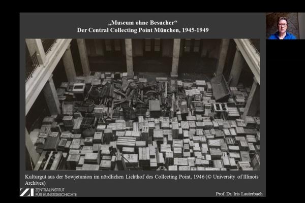 """Youtube // Vortrag Prof. Dr. Iris Lauterbach: """"Museum ohne Besucher"""": Der Central Collecting Point München, 1945-1949"""