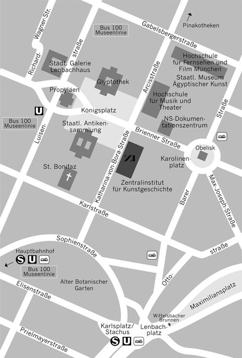 Lageplan Zentralinstitut für Kunstgeschichte