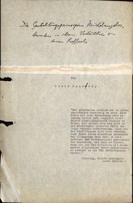 Typoskript Habilitation Panofsky