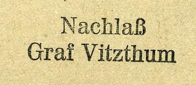 Nachlaß-Graf-Vitzthum