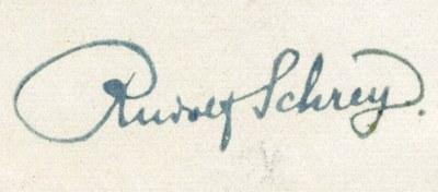 Stempel mit der Unterschrift von Rudolf Schrey